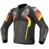 Alpinestars Atem V4 Leather Jacket Black/Fluro Red/Fluro Yellow - ETA: JUNE