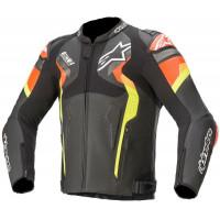 Alpinestars Atem V4 Leather Jacket Black/Fluro Red/Fluro Yellow