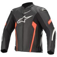 Alpinestars Faster V2 Air Leather Jacket Black/Fluro Red