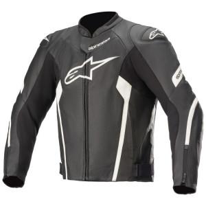 Alpinestars Faster V2 Air Leather Jacket Black/White