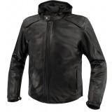 Argon Realm Leather Jacket - Black