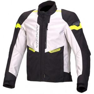 Macna Traction Jacket - Ivory/Black/Fluro