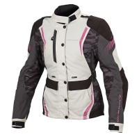 Macna Beryl Ladies Jacket - Ivory/Grey/Pink