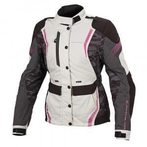 Macna Beryl Ladies Jacket - Ivory/Grey/Pink