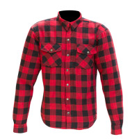 Merlin Axe Check Shirt - Red