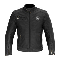 Merlin Alton Leather Jacket - Black