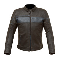 Merlin Holden Leather Jacket - Black/Blue