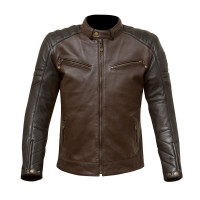 Merlin Chase Leather Jacket - Black/Plum