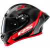 X-Lite X803 RS Carbon Hot Lap Black/Red - WITH ADDITIONAL  DARK GREEN VISOR