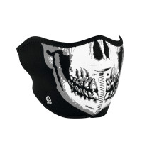 Neoprene Half Mask - Chrome Skull - ETA: March