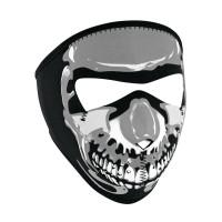Neoprene Full Face Mask - Chrome Skull