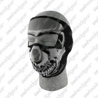 Neoprene Full Face Mask, Chrome Skull