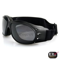 Bobster Cruiser Goggle, Black Frame - Anti-fog Smoked Lens