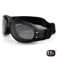 Bobster Cruiser Goggle, Black Frame - Anti-fog Smoked Lens