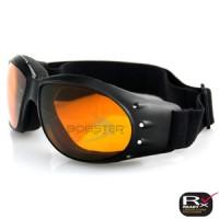 Bobster Cruiser Goggle, Black Frame, Anti-fog Amber Lens