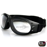 Bobster Cruiser Goggle  Black Frame  Anti-fog Clear Lens