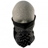 Biker Neck Tube - Black Paisley