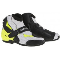 Alpinestars SMX-1R Vented Boot - White/Yellow