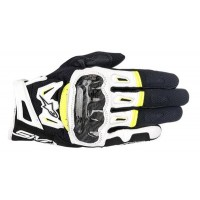 Alpinestars SMX-2 v2 Air Carbon Glove - Black/White/Yellow
