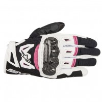 Alpinestars Stella SMX-2 v2 Air Carbon Ladies Glove - White/Fuchsia