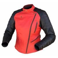 Dririder Venus Ladies Leather Jacket - Black/Red