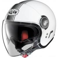 Nolan N21V (With External Visor) Joie De Vivre Metal White